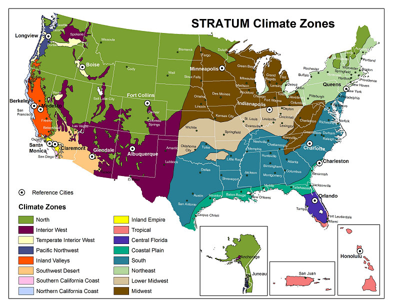 National Tree Benefit Calculator - Climate map us and canada